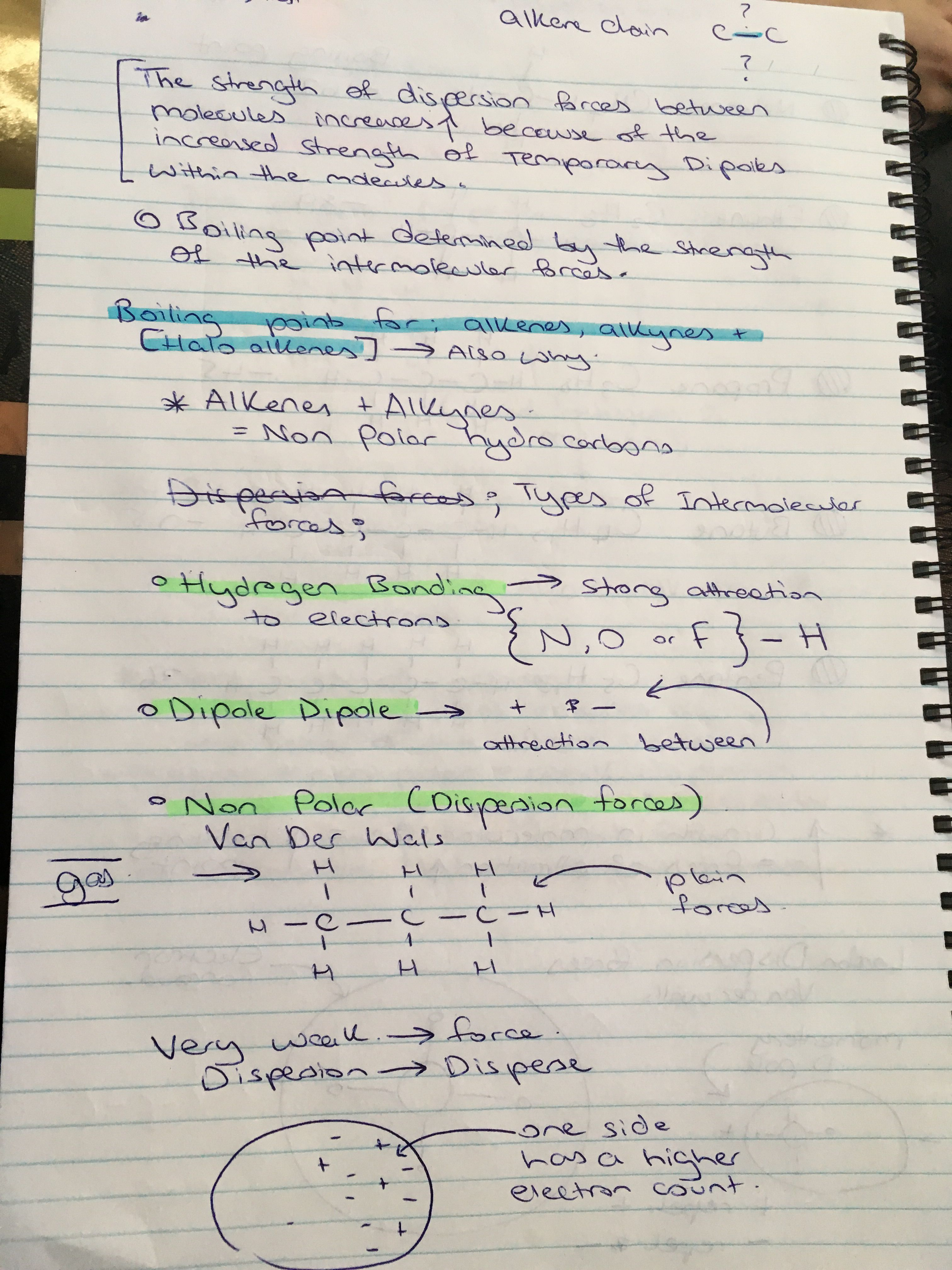 Intermolecular Forces Worksheet Answers