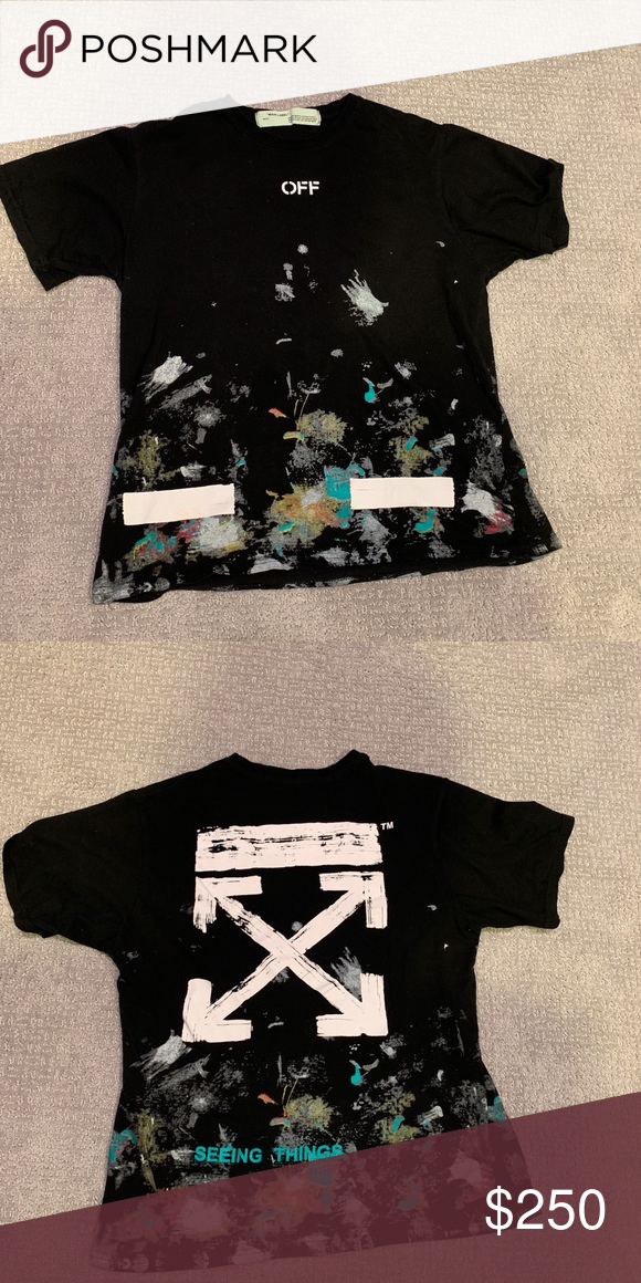 """33a8cc04 Off white """"seeing things"""" tee Great condition only worn once #offwhite Off- White Shirts Tees - Short Sleeve"""