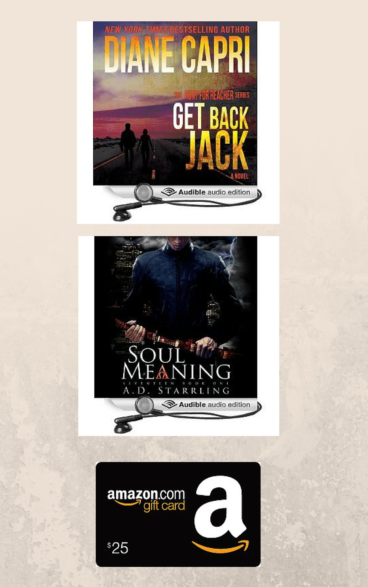 Audiobooks 25 Amazon Gift Card Package Amazon Gift Cards Book Giveaways Gift Card