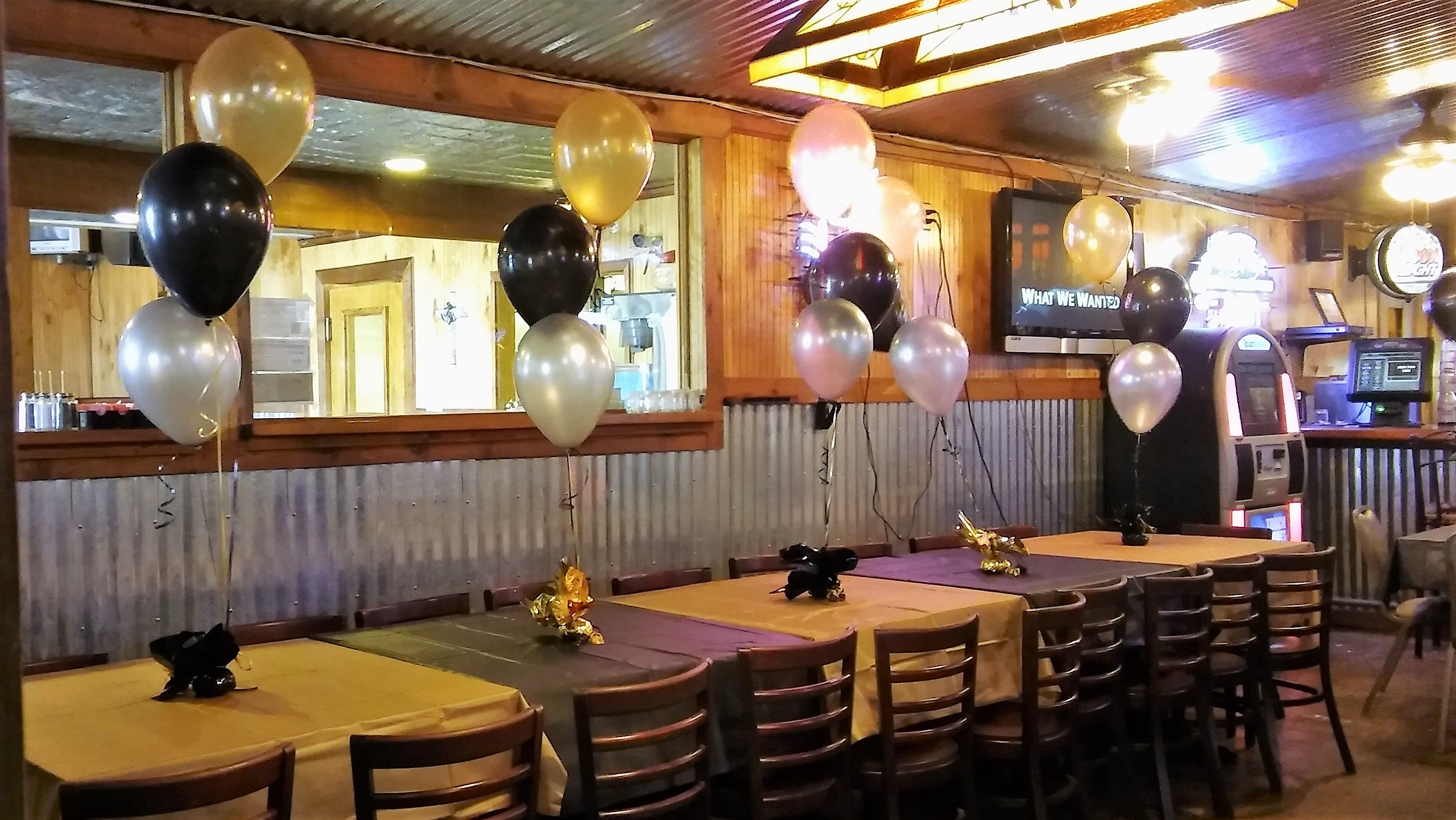 3 Balloon Centerpieces For 30th Birthday Event Gold Black And Silver Color Scheme We Delivered Setup Party Rentals PJs Rental Images