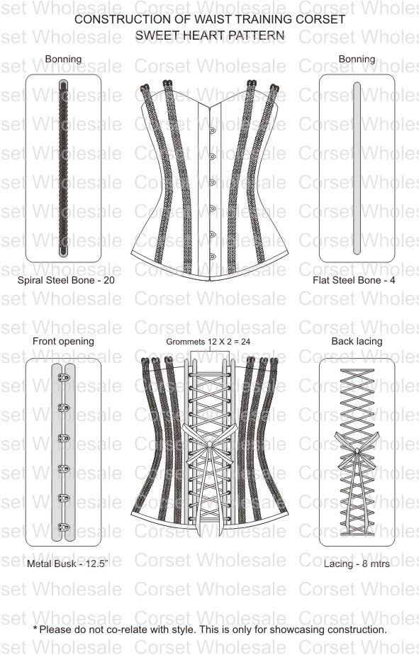 construction of waist training corset | Waist trainers | Pinterest ...