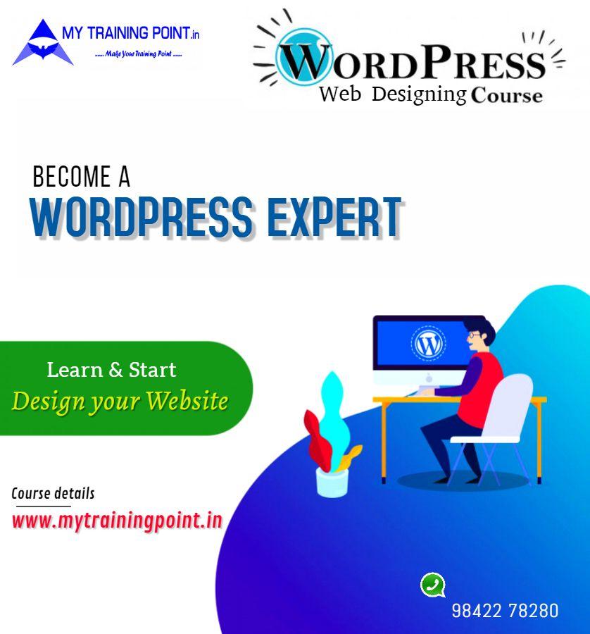 Wordpress Designing In Coimbatore In 2020 Wordpress Training Digital Marketing Solutions Web Design Course