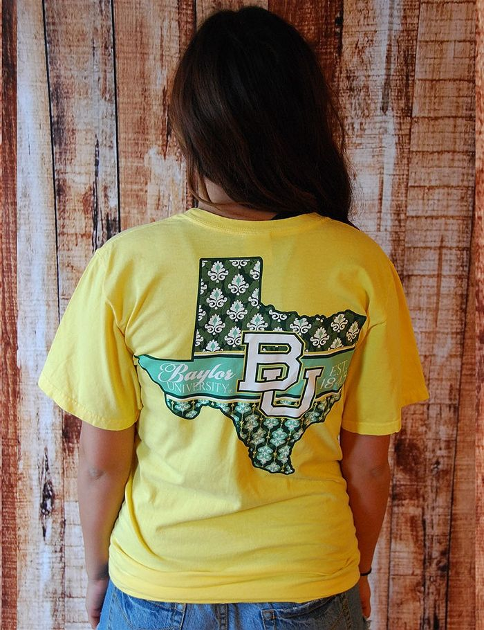 This fun, yellow top will bring out the sunshine in any Baylor fan! Go Bears!