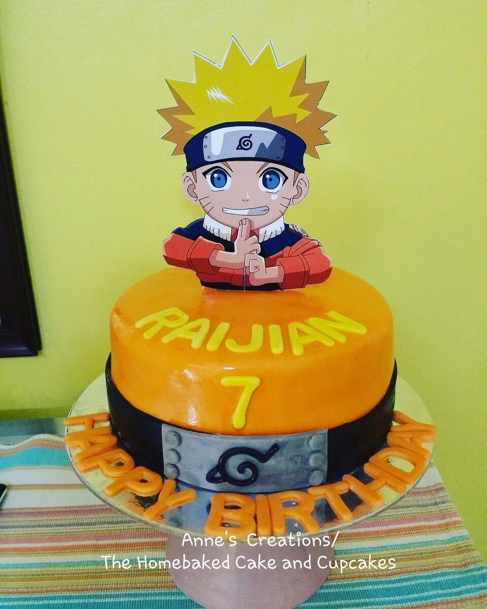 Awe Inspiring Happy 7Th Birthday Raijian Naruto Cake Annescreations Funny Birthday Cards Online Inifodamsfinfo