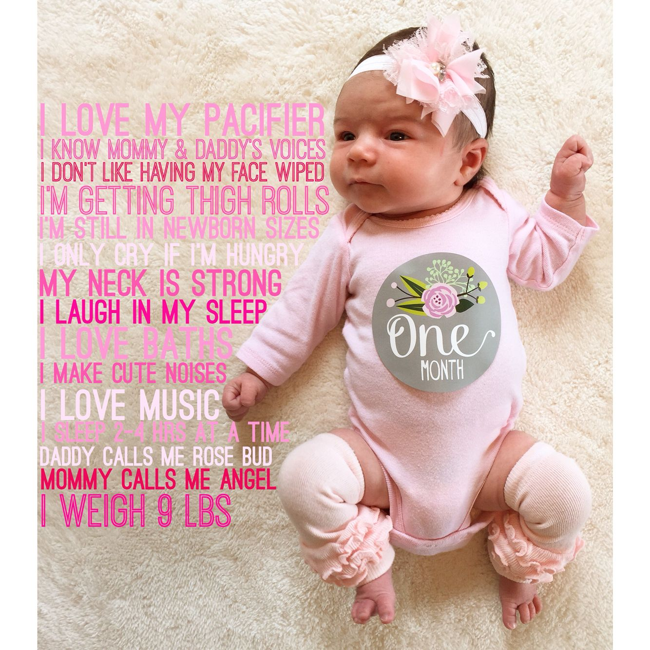 My veras one month old baby photo made with phonto sticker from