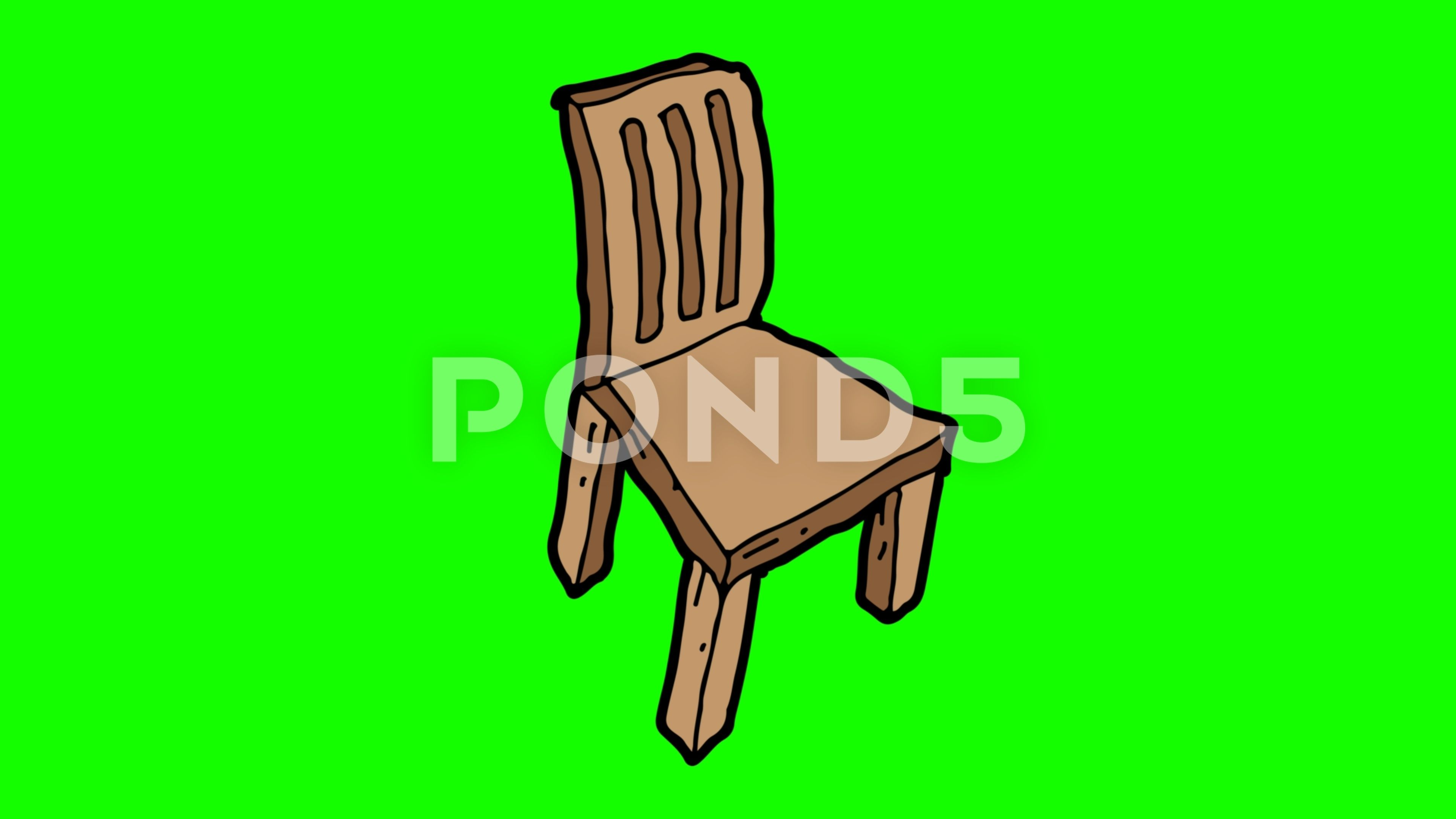 Kids Drawing Green Screen With Theme Of Wooden Chairs Stock Footage Ad Green Screen Kids Drawing Drawing For Kids Greenscreen Theme