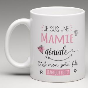 je suis une mamie g niale mug personnalis silhouettes. Black Bedroom Furniture Sets. Home Design Ideas