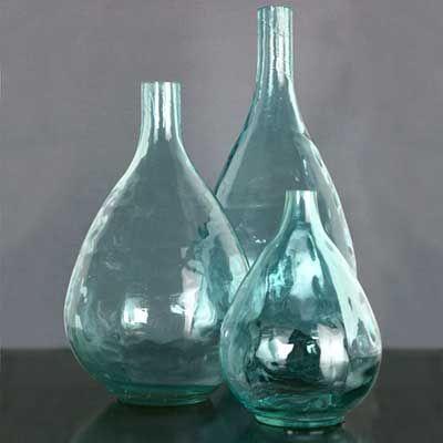 vases w vase glass handblown pages glassware no leaf vintage swirled hand mexican farm pot item blue htm blown flower laurel or underplate aqua