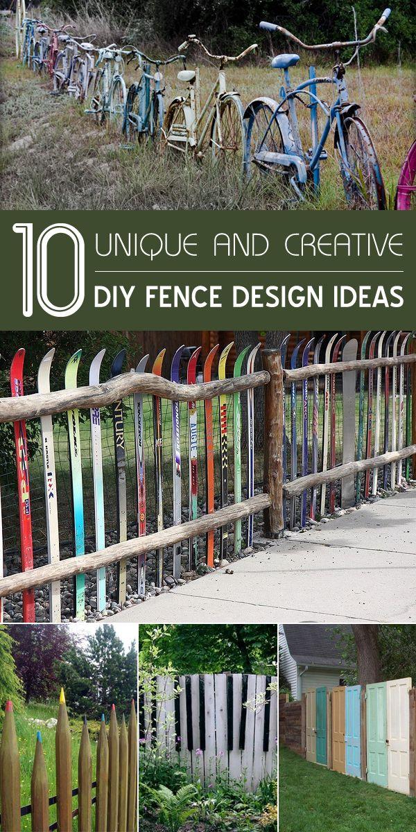 10 unique and creative diy fence design ideas