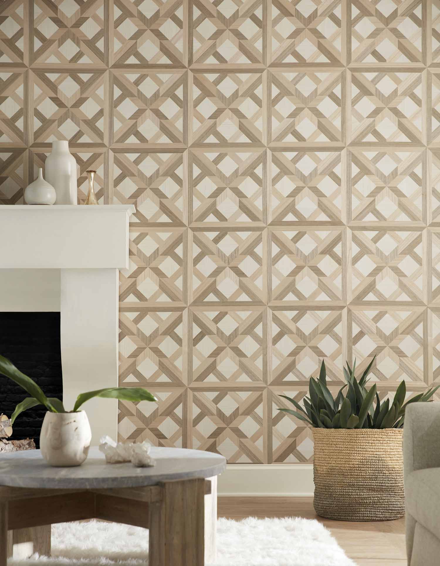 Living Room Design Using Phillip Jeffries Palazzo Wallcove