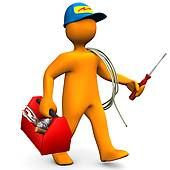 Cartoon Electrician Clip Art