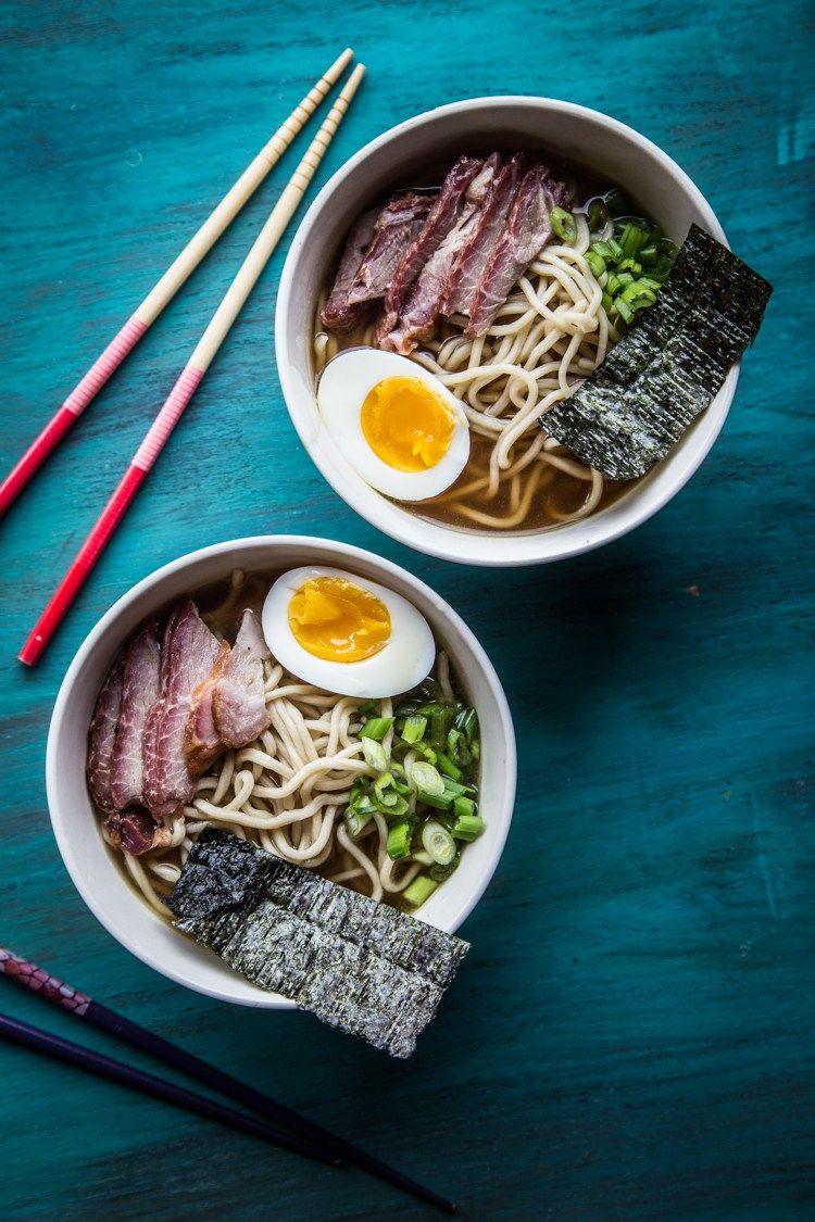 shoyu ramen with homemade ramen noodles  instant pot