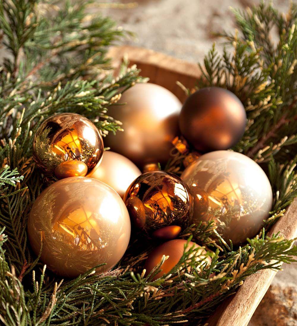 Woodland Elegance Glass Christmas Ornaments Set Of 52 Decorating The Tree Christmas Decorations Ornaments Christmas Ornament Sets Christmas Ornaments