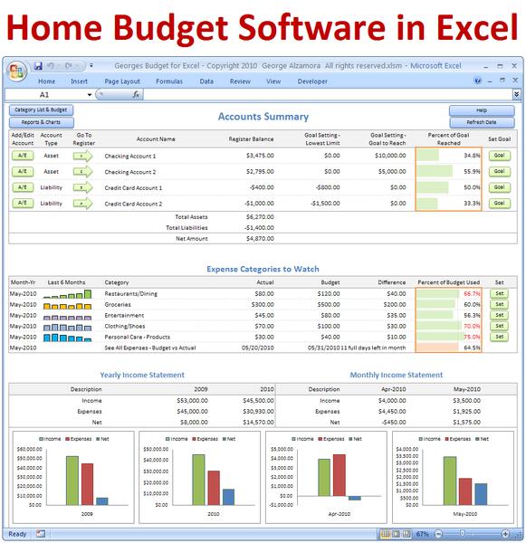 Georges Budget For Excel V10 0 Excel Format Pinterest
