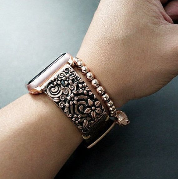 Apple watch pendant strap band -Black Forest Atelier- Sakura Cherry Blossom for Apple Watch Series 1 and 2 , 38mm or 42mm  You can choose any other color combination/stitching to make a truly custom strap. Just send me a message! This strap comes with an Apple Watch Adapter available in Alu/Stainless Steel, Space Grey/ Black, Rose Gold, Yellow Gold combine with matching color buckle  When ordering, please leave contact information/phone number so we can reach out to you an...