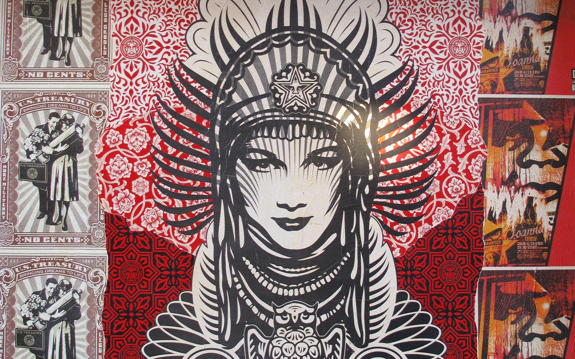 graffiti obey Shepard Fairey / 1920x1200 Wallpaper | Masks ...