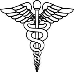 Hermes carries a caduceus, a winged staff with two snakes ...