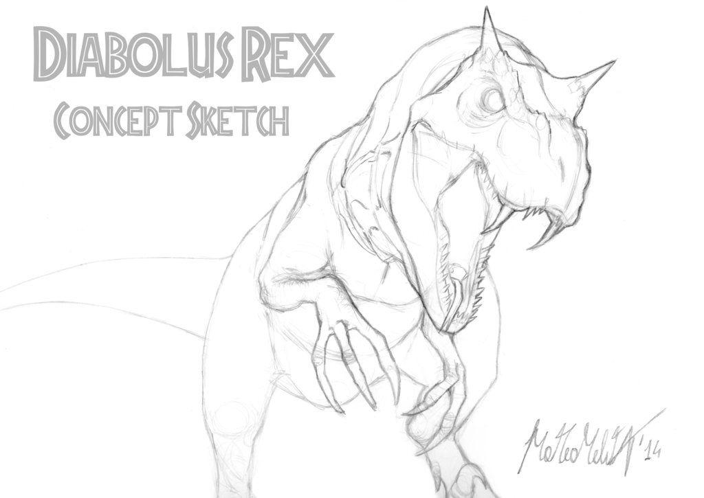 Diabolus rex | Jurassic World | Pinterest | Dibujo, Animales y Arte