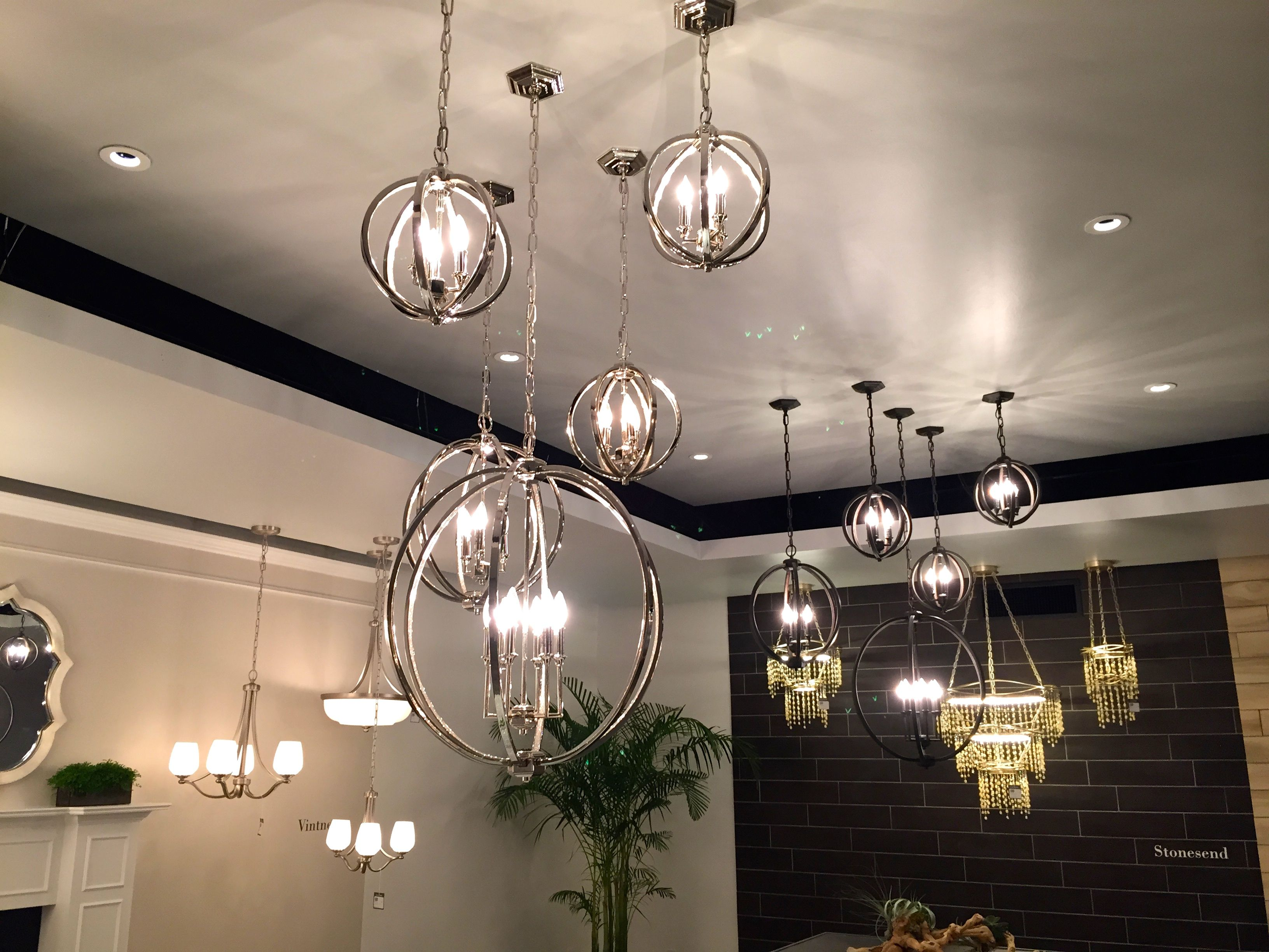 Feiss 39 corinne collection in polished nickel orb check for Dining room globe lighting