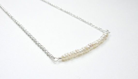 Graceful Collection Tiny Dainty Delicate Pearl by TheEboutique