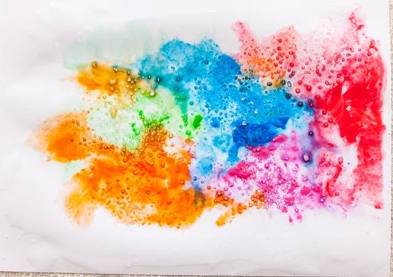 Populares Pintura aquarela utilizando Sal Grosso | Técnicas | Pinterest  OZ92