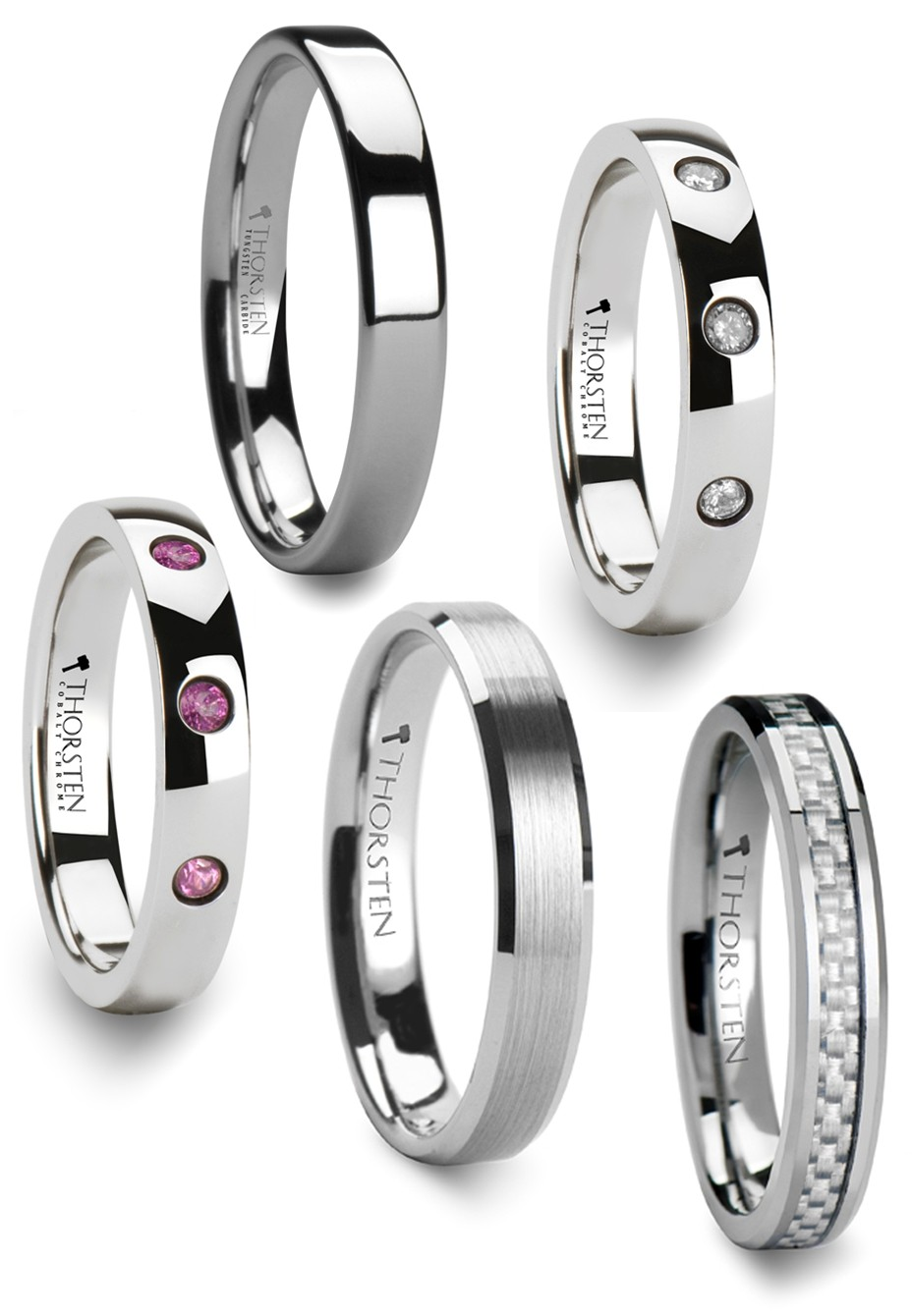 Choose from a huge selection of wedding bands for both men and women