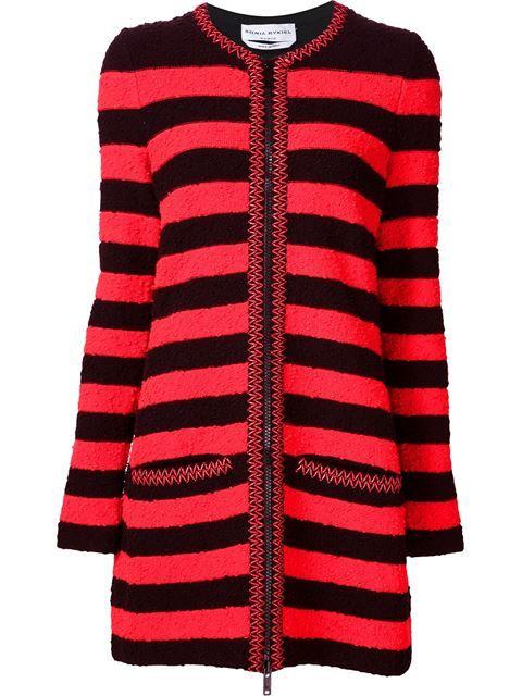 Sonia Rykiel striped zip cardigan