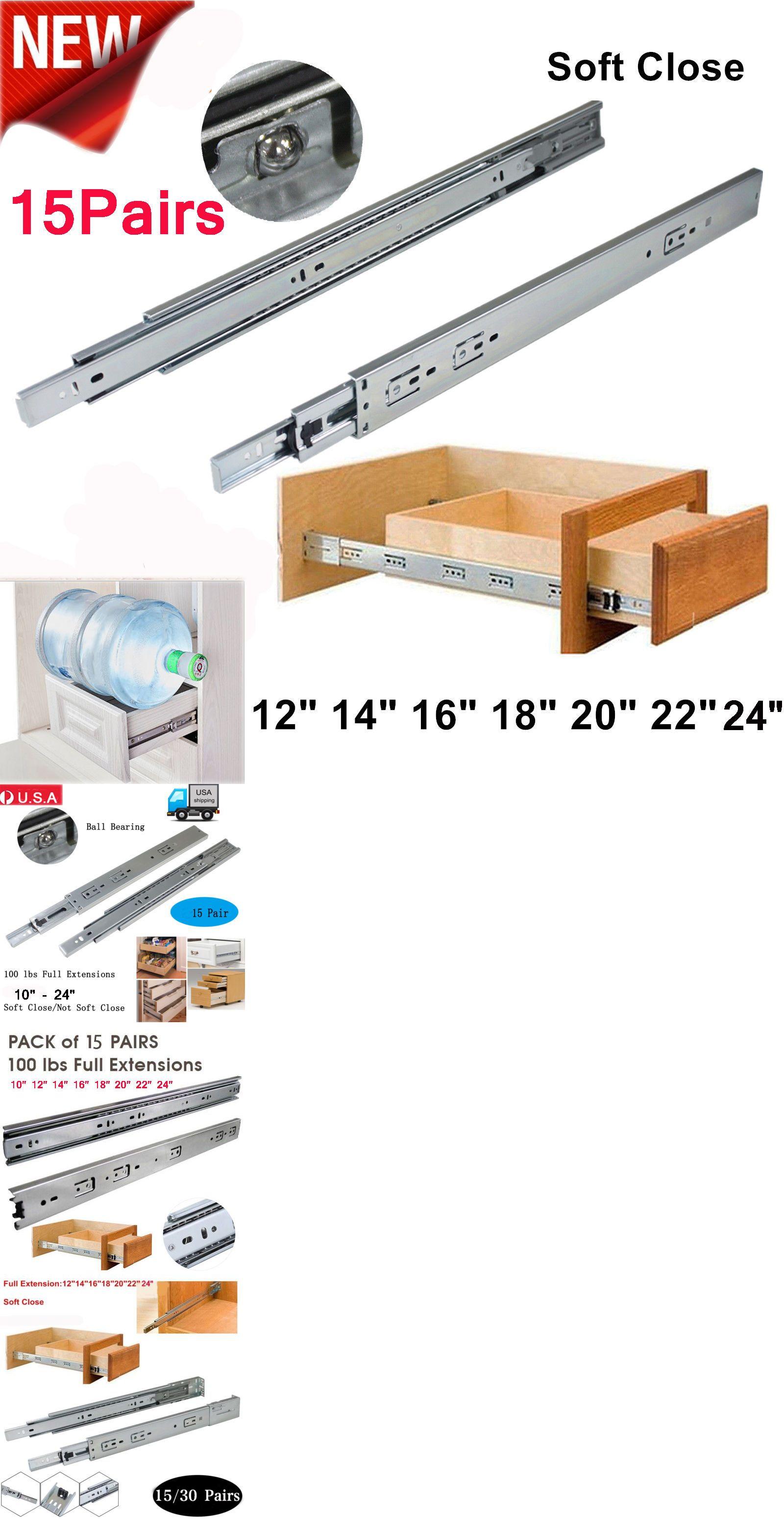 Drawer Slides 134642: 15Pairs 10-24 Full Extension Drawer