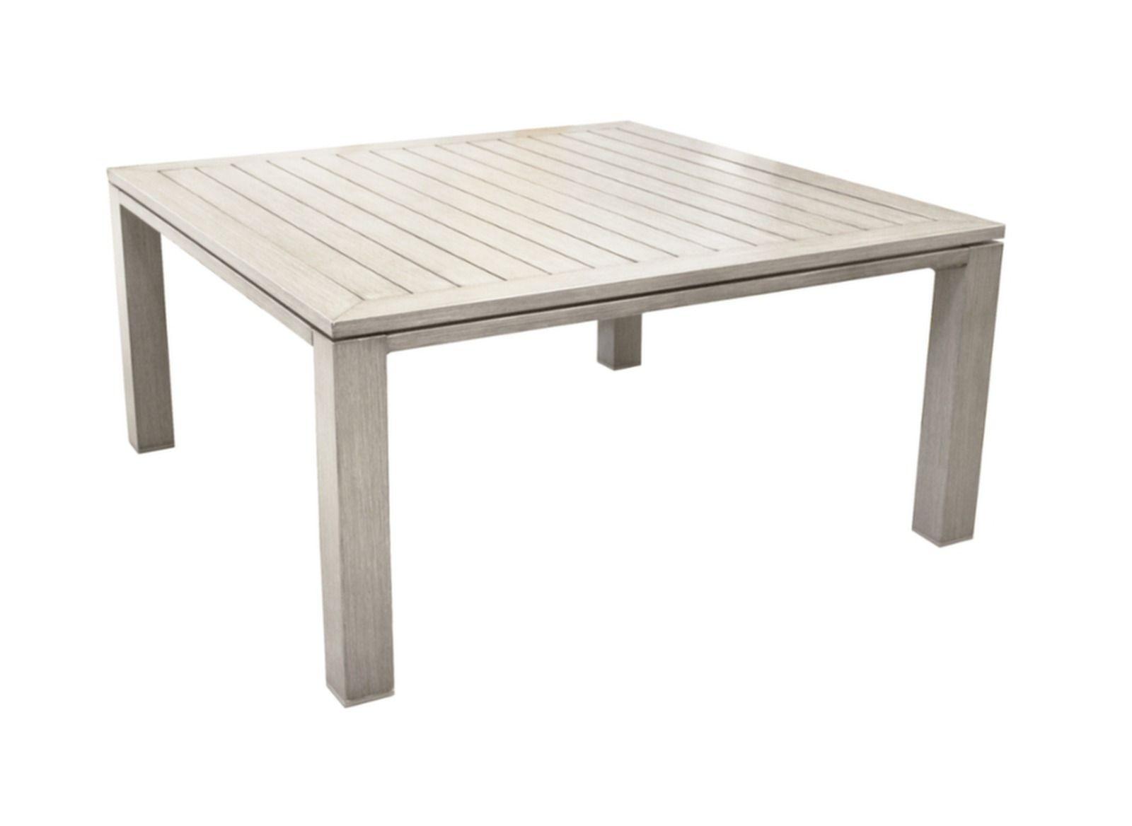 Table carrée de jardin Latino en alu grege aspect bois | terrasse ...