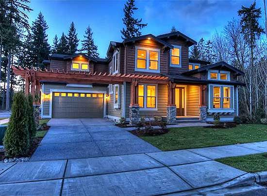 Plan 23274JD Unique Craftsman with Central Patio Craftsman Photo