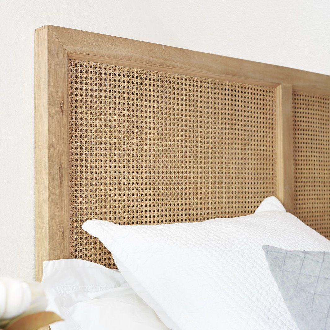 Rattan Bedhead Queen And King In 2020 Comfortable Bedroom Decor Rattan Headboard Rattan