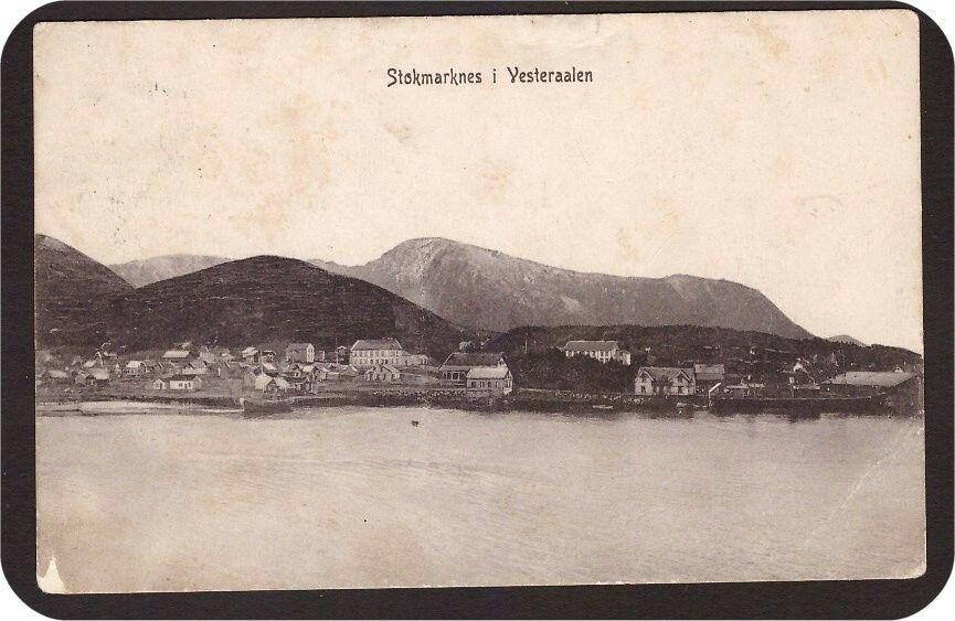 Stokmarknes i Vesteraalen. Utg Stokmarknes Aktietrykkerie Stemplet-1912