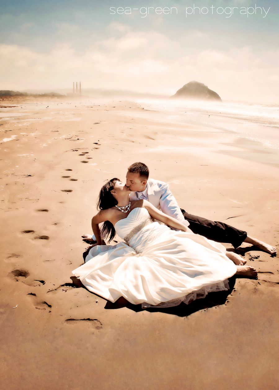 Wedding Photography On The Central Coast From Morro Bay To Pismo Sea Green