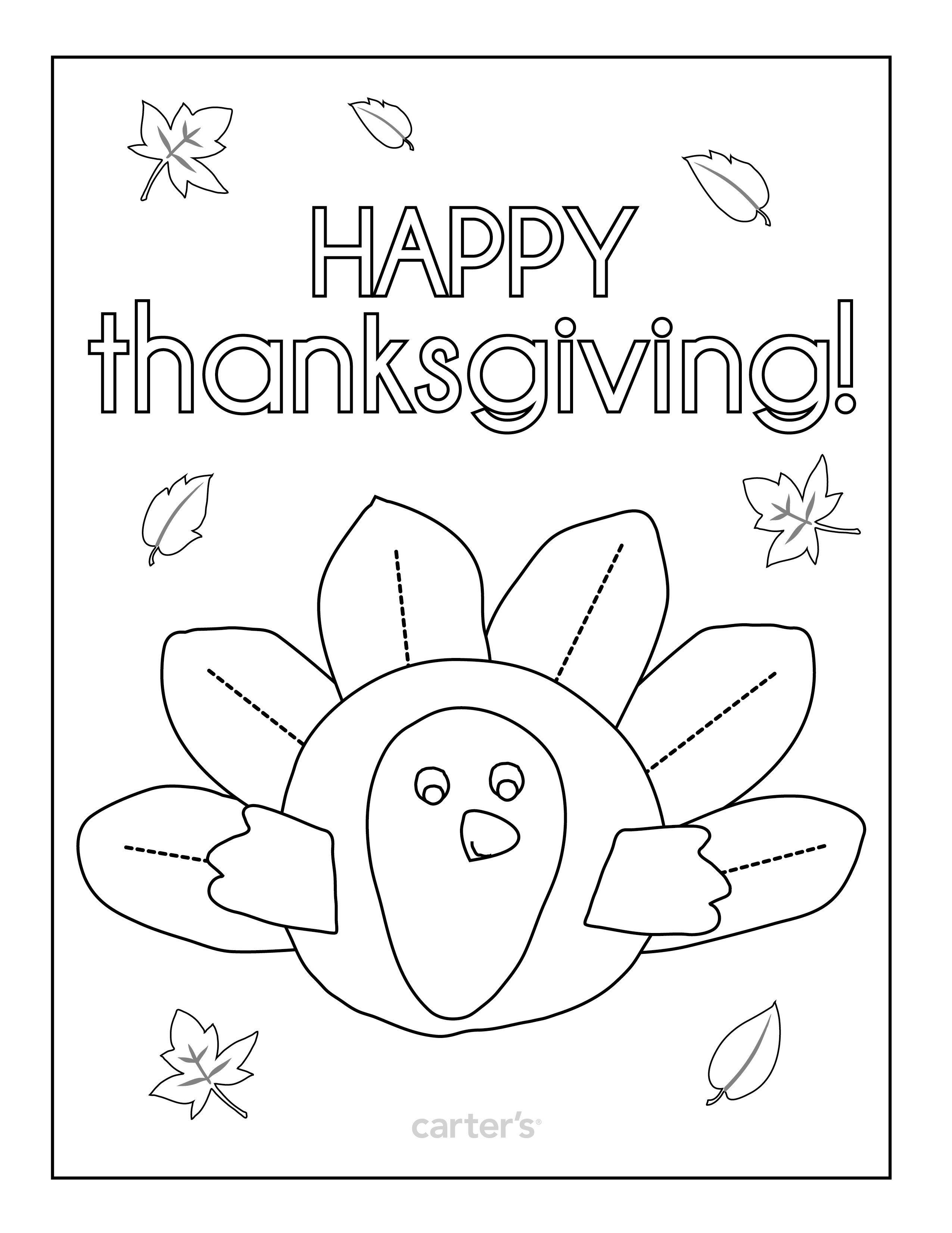 Print this coloring page for your kiddos! Happy Thanksgiving ...