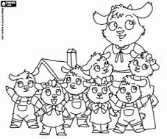 Resultado De Imagen De Dibujos Los 7 Cabritillos Y El Lobo