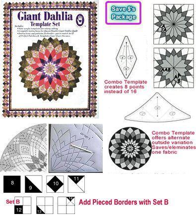 Giant Dahlia Premium Pkg 1 Dahlia Templates 2 Dahlia