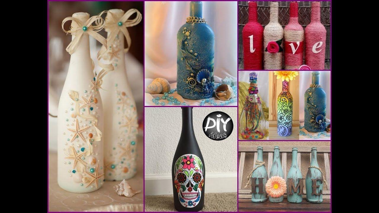 70 Wine Bottles Decor Ideas Diy Room Decor Using Recycled Glass