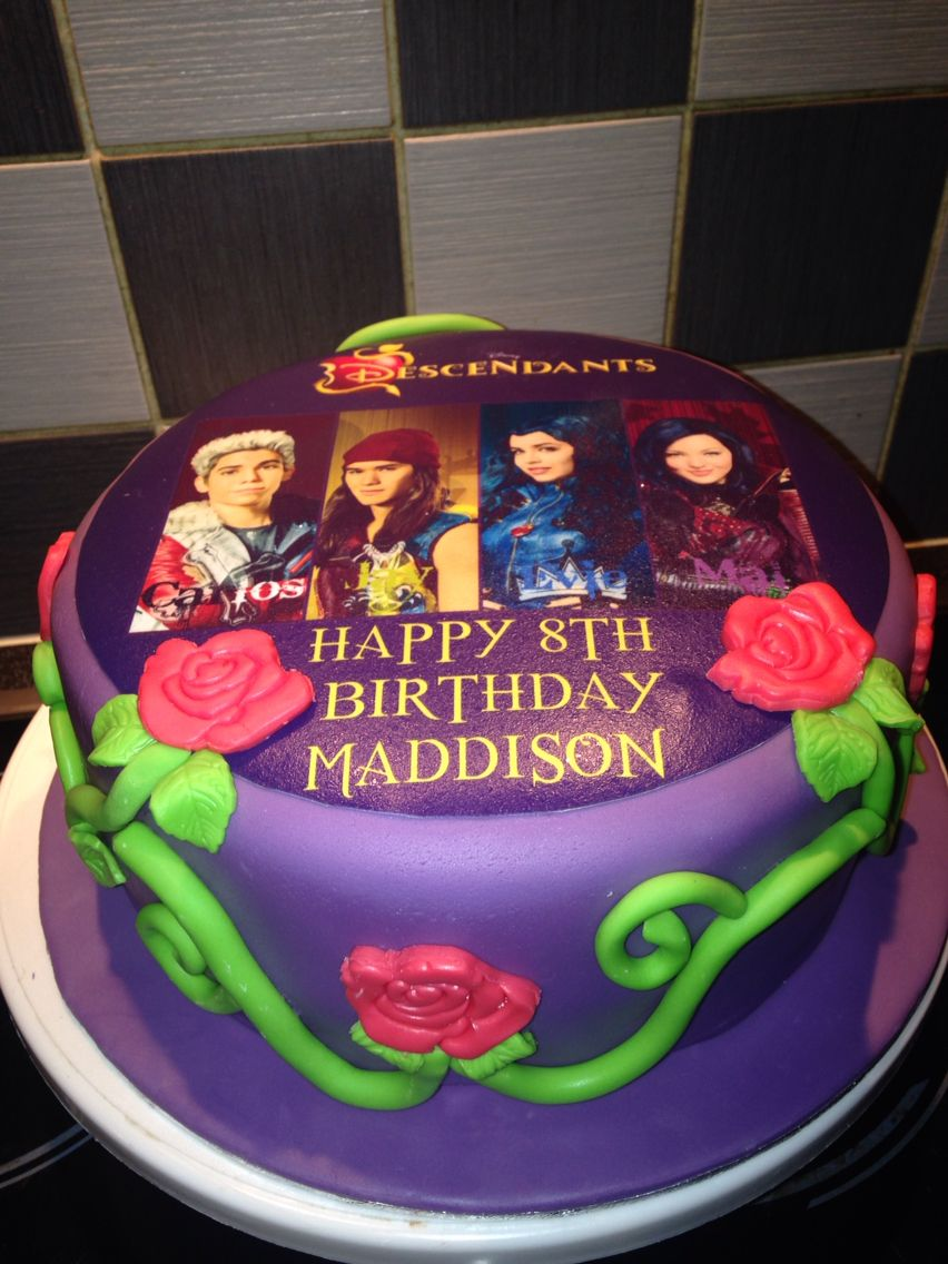 Descendants Cake Party Princess Descendants Cake
