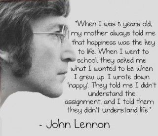 "NEW Famous Musician Quote Poster John Lennon I Wrote Down /""Happy/"" 2"