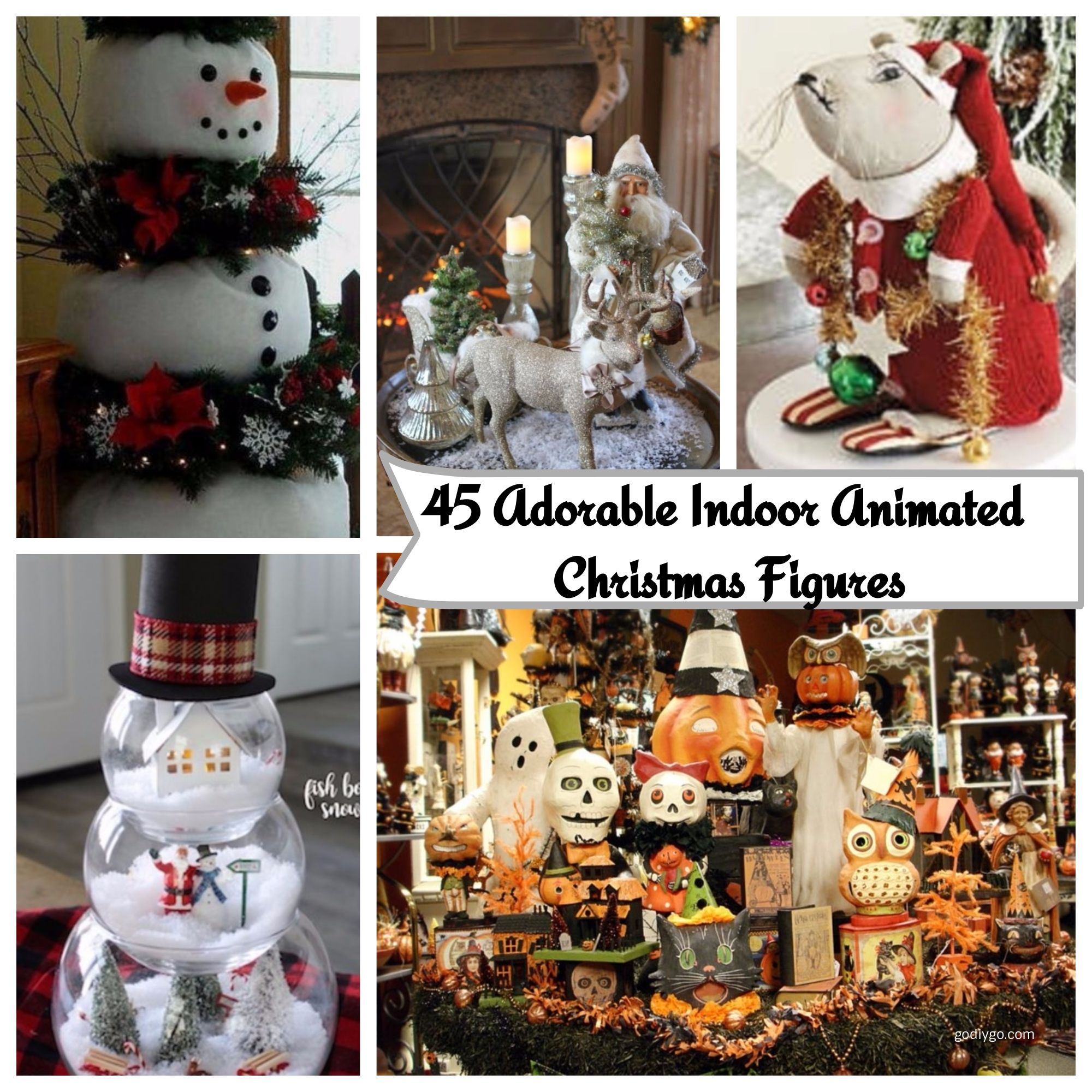 lovely 45 adorable indoor animated christmas figures httpgodiygocom2017