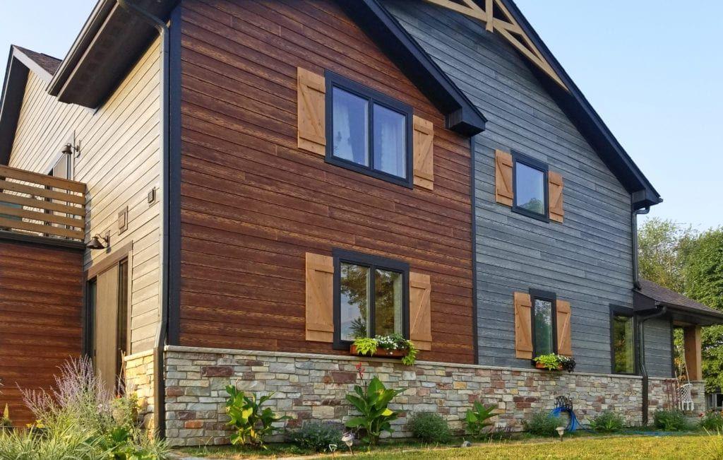 Slate Gray Siding Colorado Homes Green Apartment Timber Trail