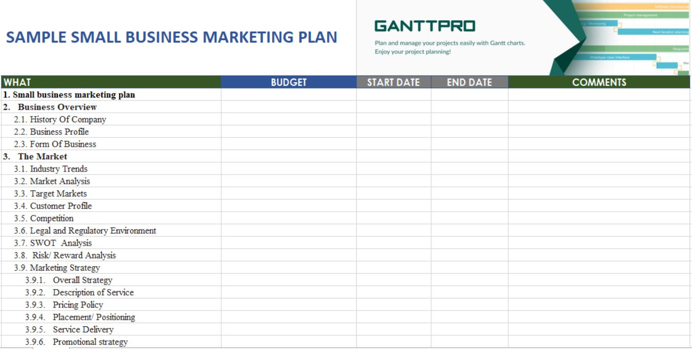 The Marvelous Sample Small Business Marketing Plan Free Download