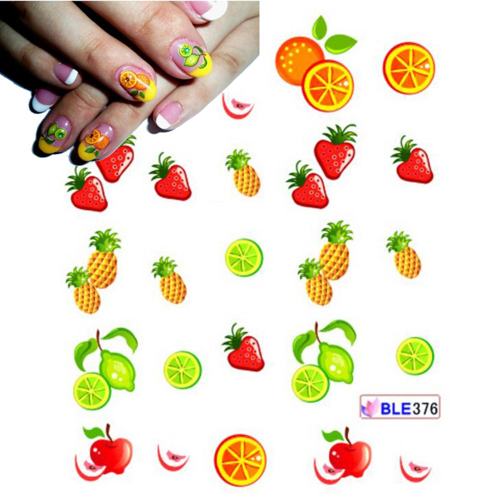 1 tấm dễ thương diy mẹo nail art nail sticker nước chuyển decals ...