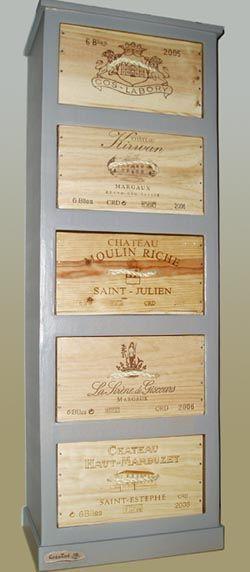 Chiffonnier en carton et en bois Provence style, Creative storage