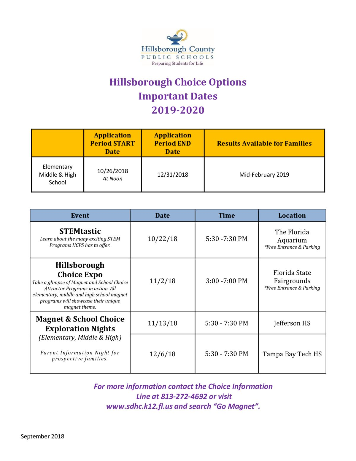 Image Of A Flyer Titled School Choice Application Period