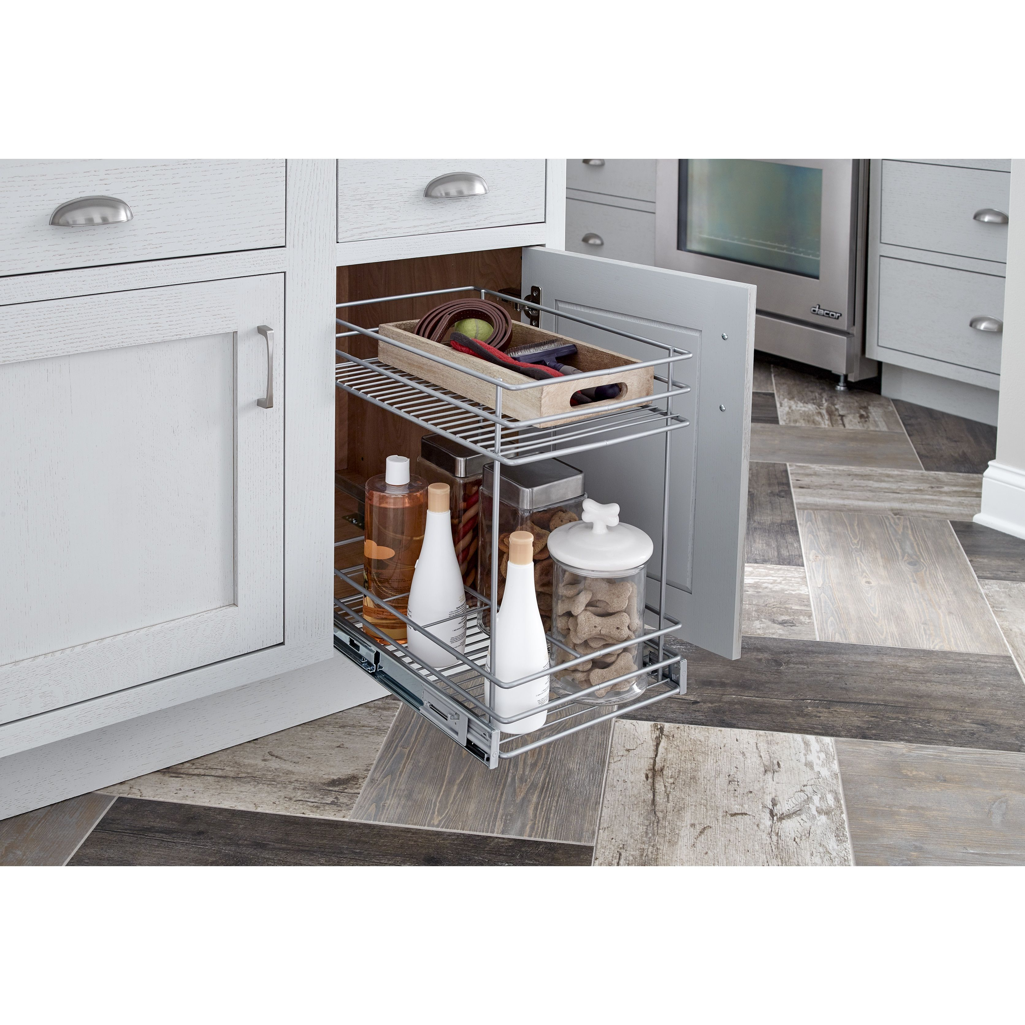 Closetmaid Premium 115Inch 2Tier Cabinet Pull Out Basket Classy Pull Out Kitchen Cabinet Design Ideas