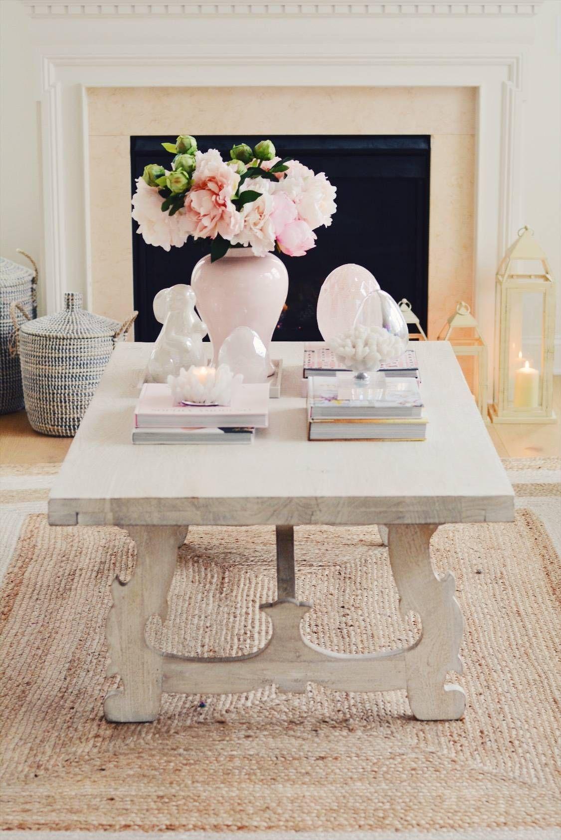 Elegant Spring Home Tour And Easter Decor 2019 Decor Easter Coffee Table Decor Coffee Table Books Decor