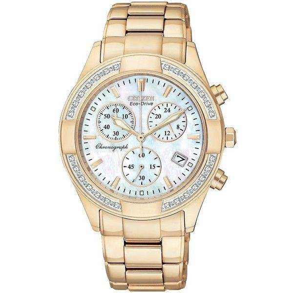 Citizen FB1223-55D Regent ($525) ❤ liked on Polyvore featuring jewelry, watches, accessories, bracelets, bags, stainless steel wrist watch, stainless steel jewellery, stainless steel bracelet, rose watches and citizen watches