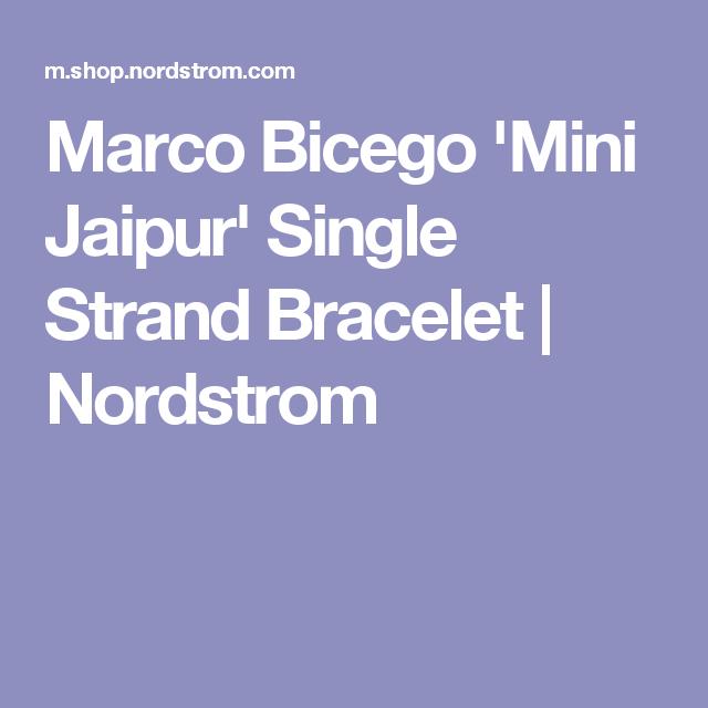 Marco Bicego 'Mini Jaipur' Single Strand Bracelet   Nordstrom