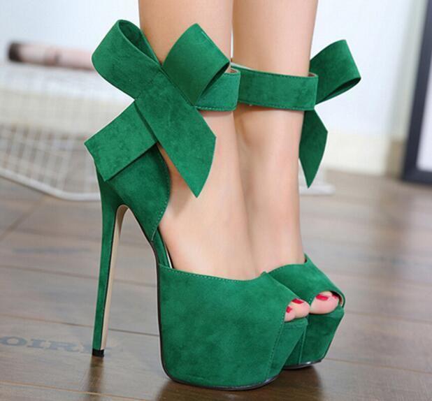 d4616f851fe Click to Buy << 2017 platform sandal boots red green black Suede ...